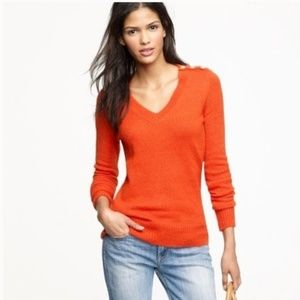 J.CREW Wool Mohair Wynter V-neck Pullover Sweater
